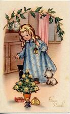 Serie Completa di 10 cartoline Bambini Giocattoli Buon Natale PC Circa 1940