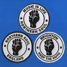 NORTHERN SOUL set FIST Music Is Life Brighton England PATCH