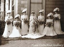 Vintage Wedding Party (1) - 1906 - Historic Photo  Print