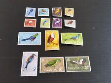 UGANDA 1965 SG 113-126 BIRDS MH (M)