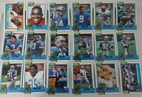 1990 Topps Detroit Lions Team Set of 18 Football Cards