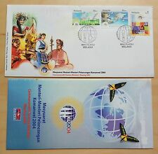 2004 Malaysia Commonwealth Tourism Minister Meeting 3v Stamps FDC