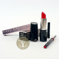 Mary Kay Lips Set: Semi-matte Lipstick POPPY PLEASE + Lip liner RED, NEW!!!
