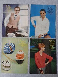 1950s Vintage Sirdar Patterns, Gents Cardigan, Ladies Sweater, Tea Cosy Cosies