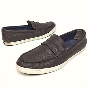 ✅❤️✅@ Cole Haan Penny Loafer Shoes Men's 10.5 M Brown Pebble Leather Slip On EUC