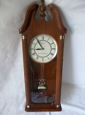 Seiko Quartz Wooden Wall Pendulum Clock Westminster Whittington w/Chime