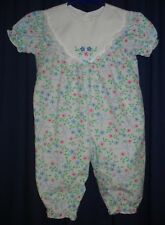 Girl 6-9m Flower Jumper Outfit Lace Trim Blue Floral BG55 55