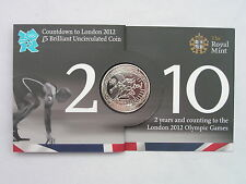 "2010 2nd ""Athletics"" Countdown £5 BU Coin Pack 2012 Olympic Royal Mint Brand New"