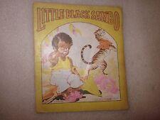 1942 Little Black Sambo Cloth-Like book The Saalfield Publishing Co. Rare