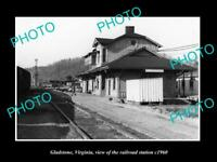 OLD LARGE HISTORIC PHOTO OF GLADSTONE VIRGINIA, THE RAILROAD STATION c1960 2
