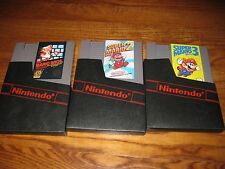 Super Mario Bros. 1 + 2 + 3 (Nintendo, NES LOT) Carts Tested] Rare + I Ship Fast
