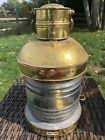 """Antique Oneida Spain Brass and Glass Lantern for Nautical use. 1890-1910. """"Read"""""""
