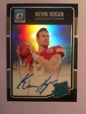 2016 Donruss Optic Kevin Hogan On Card Autograph Black 18/25 Browns Stanford Mt