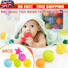6x Kids Newborn Ball Hand Sensory Baby Toy Rubber Textured Tactile Senses Touch