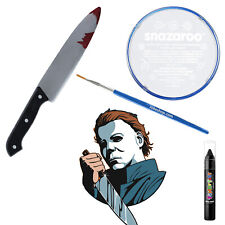 Michael Myers HALLOWEEN Fancy Dress Makeup Kit Face-paint Fake Blooded Knife