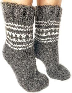 Sheepskin Sheep Wool Winter Socks Soft Fuzzy Warming Knitted Super Warm Natural