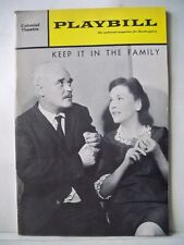 KEEP IT IN THE FAMILY Playbill MAUREEN O'SULLIVAN Tryout BOSTON Flop 1967