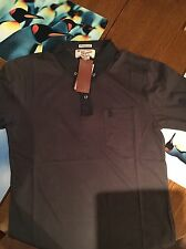 Original Penguin Gingham Collar Polo Shirt - Asphalt Size S