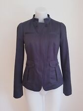 BANANA REPUBLIC Women's Full-Zip Blazer, Dark Grey, 2