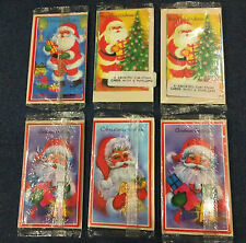 6 PACK 1980's NEW SEALED TRUE VINTAGE CUTE CHRISTMAS CARDS traditional greetings
