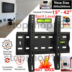 TV Wall Mount Bracket For 15 21 24 30 32 37 42 inch Slim Fixed LCD LED 3D Plasma
