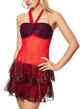 SeXy Miss Gogo metallic Lack Look Mini Kleid Dance Disco Dress Top XS-S silber