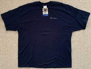 NWT Deadstock Champion Cotton Jersey Tshirt Script Logo Spellout Blue XL