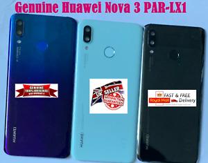 GENUINE HUAWEI NOVA 3 PAR-LX1 Rear Battery Back Cover SCANNER Key Camera Lens