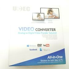 UCEC USB 2.0 Video Capture Card Device VHS VCR TV to DVD Converter for Mac OS