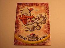 #105 Marowak - 2000 Topps Pokemon Series 2 Official Trading Card Blue Logo