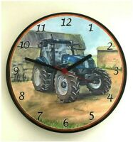 New Holland Tractor Battery Wall Clock