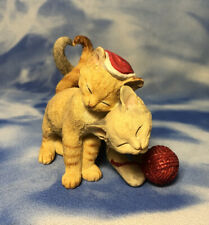 """Lenox """"Kitty's Gift From the Heart"""" Christmas Cats Kittens Figurine #6344865 Guc"""