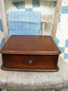 Small Antique Wood Watchmaker's Watch Glass Cabinet