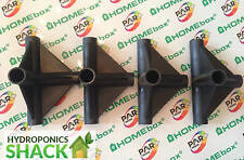 Homebox 4 Pack Grow Tent Room 4 WAY Connector Corners Tee Joint for 16 MM Poles