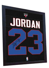 Michael Jordan Chicago Bulls signed autograph Framed printed 100% Cotton Canvas