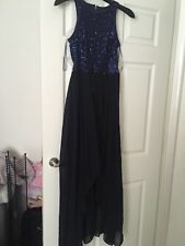 River Island Navy Sequin Maxi Dress Size 8