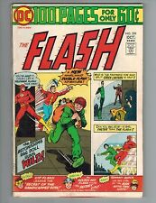 Flash 229 100 Page Giant vs Rag Doll w/ Ga Flash, Kid Flash, Gl Vf 1974