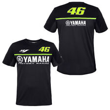 Genuine Yamaha ROSSI Dry Fit T Shirt Nera Taglia 2XL Nuovo di Zecca