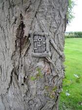 QUADRATO tronco d'albero FATA porta pietra ornamentale da giardino