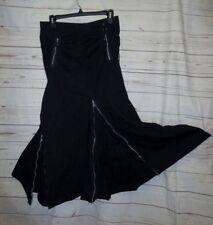 "Log In M 30x34"" Skirt Long Black Lots Zipper Goth EMO Punk Zip Steampunk Unique"