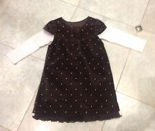 18-24 mois LILI GAUFRETTE EUC chocolat velvet dress & ROSE TOP Set RRP $111