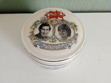 Vintage Sadler Charles and Diana Trinket Box