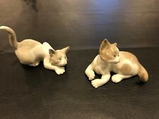 lladro figurines cats sold as pair. Excellent condition