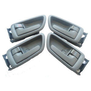 For 01-07 Toyota Sequoia Tundra Inside Interior Left Right Side Door Handle 4Pcs