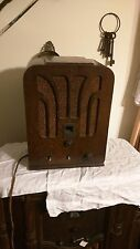 VINTAGE ART DECO GENERAL ELECTRIC TOMBSTONE MODEL A-53 TUBE RADIO