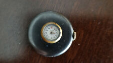 SCARCE VINTAGE BUTTON WATCH BY TAVANNES GUN METAL KEEPING TIME