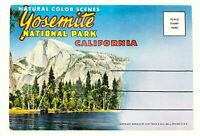 Vintage Postcard Folder Yosemite National Park California CA Natural Color Scene