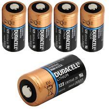 Duracell 3v batería de litio 123-dl123a/cr123a/cr17345 - 1400mah - 5 trozo