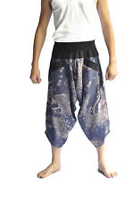 Thai fisherman pants, Yoga Harem pants cotton, Fish design, Thai pants, wide leg