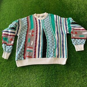 Vintage Don Peters Coogi Style Sweater Large
